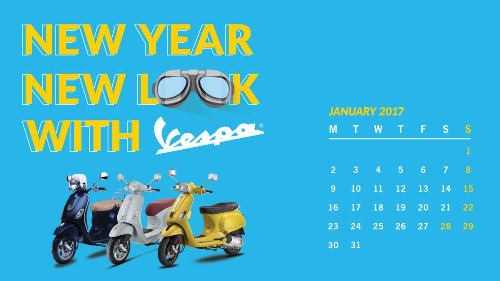 Vespa naptár 2017 január